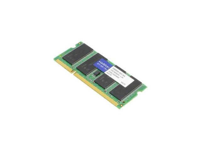AddOn 598858-001-AAK 2 GB (1 x 2 GB) - DDR2 SDRAM - 800 MHz DDR2-800/PC2-6400 - 1.80 V - Non-ECC - Unbuffered - 200-pin