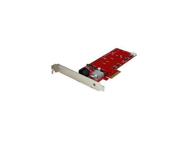 StarTech PEXM2SAT3422 M.2 SATA (NGFF) SATA 1 - PCI Express x4 Male 2x M.2 NGFF SSD RAID Controller Card plus 2x SATA III Ports - PCIe