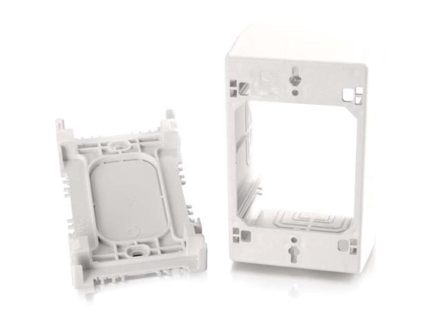 C2G Wiremold Uniduct Single Gang Extra Deep Junction Box White