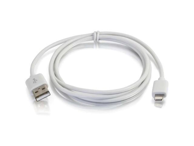 C2G 1m USB A Male to Lightning Male Sync and Charging Cable - White (3.3ft)