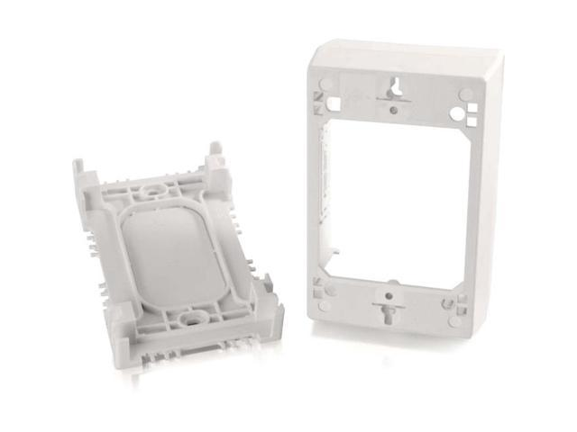 C2G Wiremold Uniduct Single Gang Deep Junction Box White