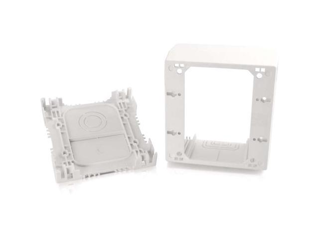 C2G Wiremold Uniduct Double Gang Extra Deep Junction Box White