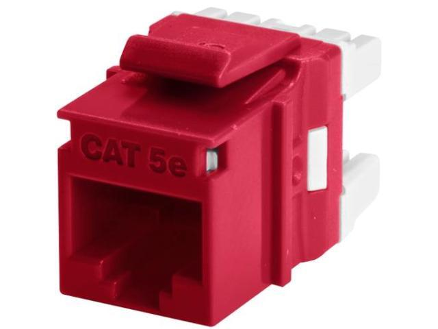 Wirewerks KeyWerks Cat5e Module, Back Termination, Red
