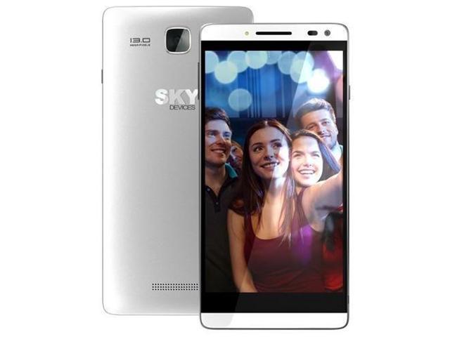 Sky Devices Elite 5.5L 4G LTE Dual Sim Unlocked Smartphone - Silver