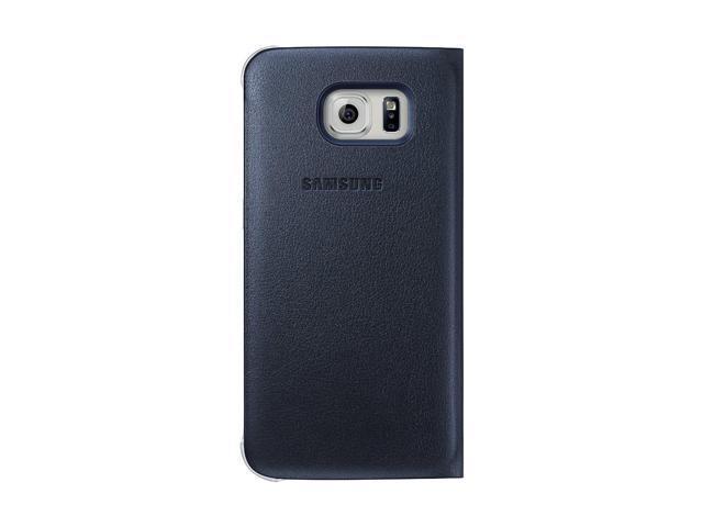 Samsung EFWG925PBEGCA Flip Wallet (PU) GS6 Edge, Black/Blue