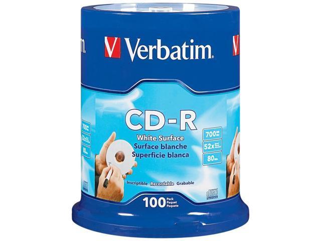 Verbatim - CD-R - 700 MB - 52x (max) - 5.25inch - white - spindle - storage medi