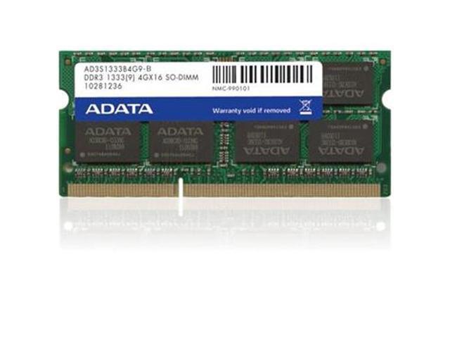 Adata 4GB DDR3 1333 PC3-10666 SO-DIMM 1.5V