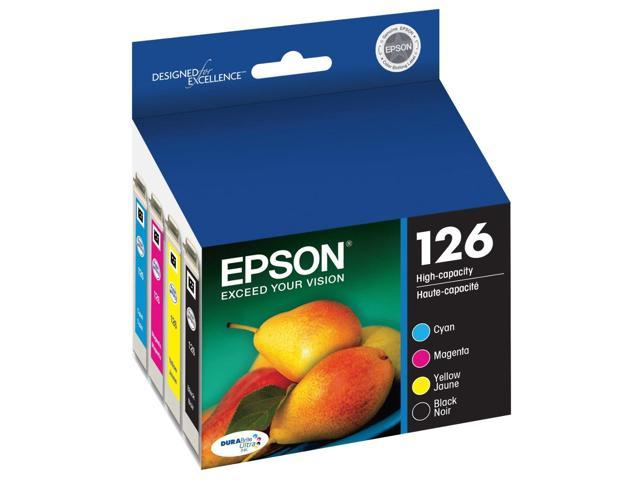 Epson T126 Black And Color Ink Cartridge Combo Pack