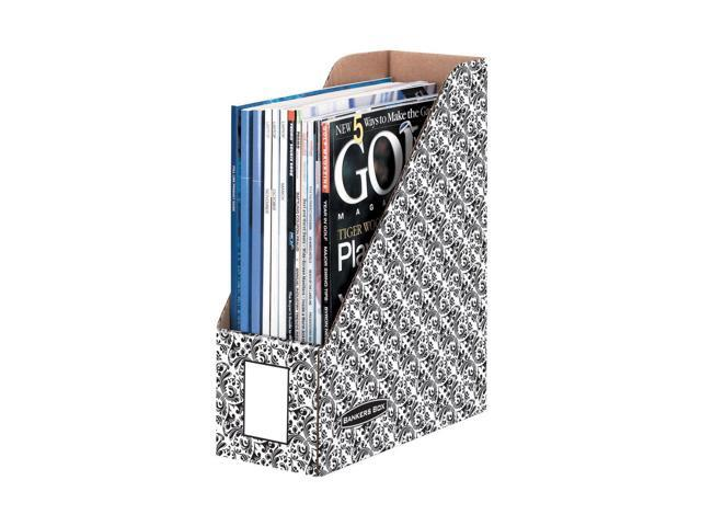 Fellowes BANKERS BOX BROCADE MAGAZINE FILES LETTER - 6PK