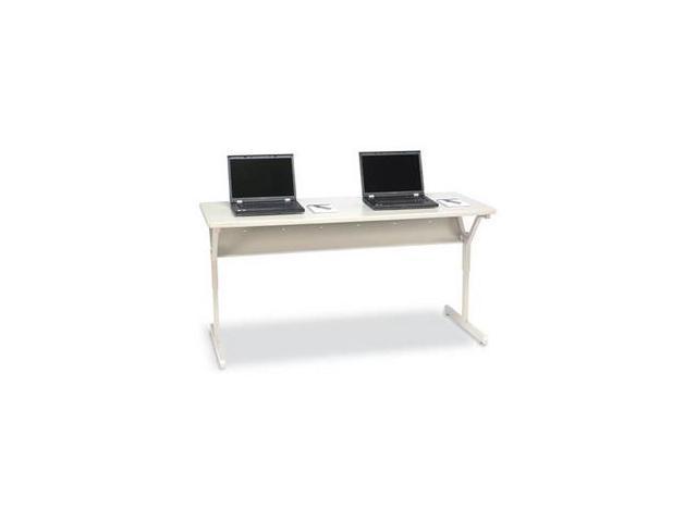 BRETFORD COMP TABLE W/CASTERS, WORK CENTER, 72WX24DX24-32H, QUARTZ