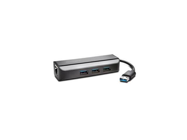 KENSINGTON UA0000E USB 3.0 ETHERNET ADAPTER WITH 3-PORT HUB
