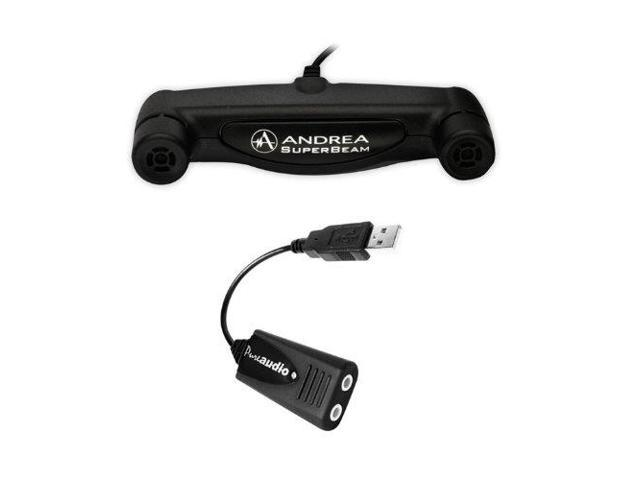 Andrea USB-SA External Usb Sound Card With Premium Microphone Input and Speaker Output