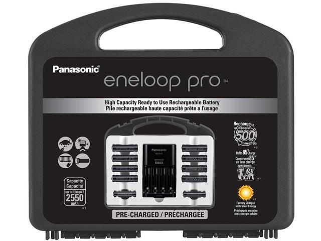 Panasonic Eneloop Pro Power Pack Charger Kit Includes High Capacity Aa8pk And Aa
