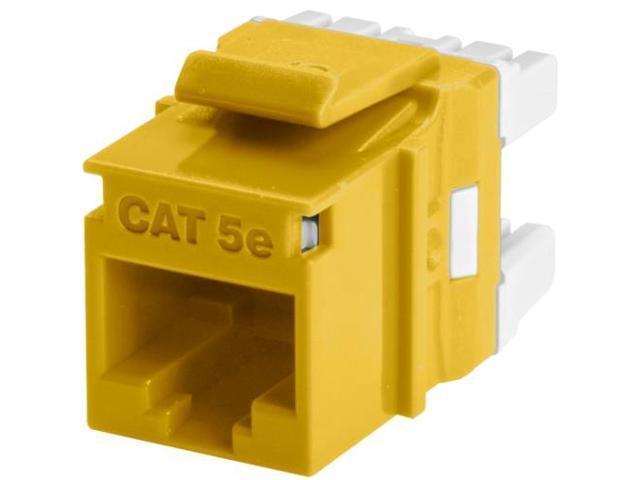 Wirewerks Cat5e RJ45 KeyWerks Module, Back Termination, Yellow