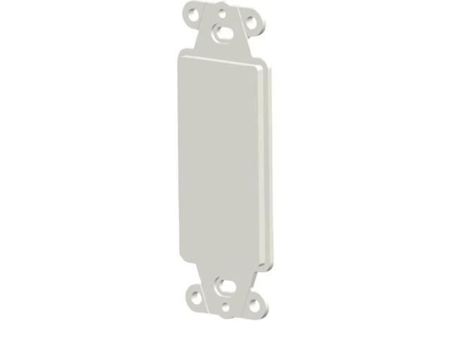 Wirewerks Decora Bezel, Blank, Almond