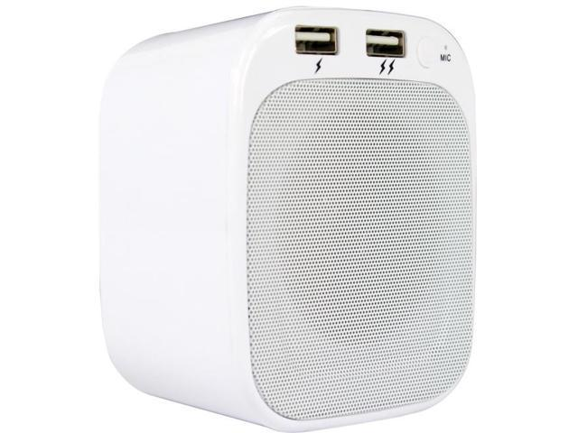 Digital Treasures Lyrix Speaker System - Portable, Wall Mountable - Wireless Speaker(s) - White