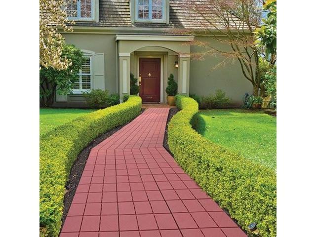 Interlocking Faux Brick Patio Walkway Pavers 11.75