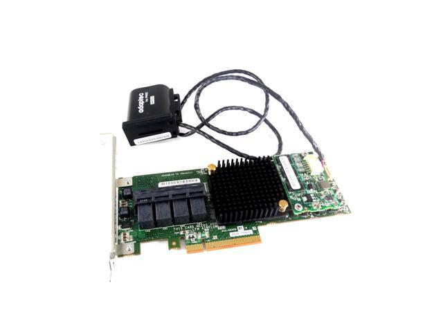 Adaptec 2274400-R SAS/SATA 6GBPS 1GB PCIe RAID Controller with Battery, (ASR-71605)