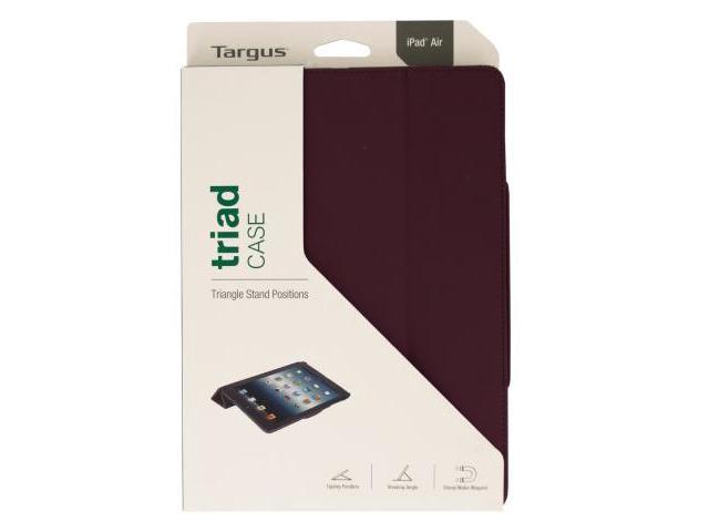 123-Wholesale: Set of 10 Targus iPad Air Black Cherry Triad Viewing Stand Case (School & Office Supplies, Computer...