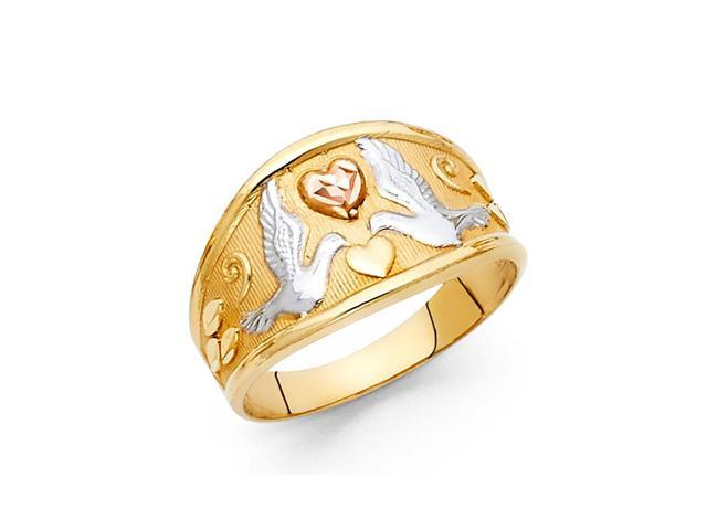 14K Tri-Color Gold Fancy Ring