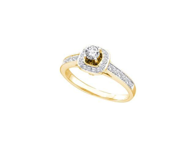 14kt Yellow Gold Womens Round Diamond Solitaire Bridal Wedding Engagement Ring 1/2 Cttw (Ring Size 8.5)