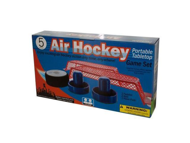 123-Wholesale: Set of 2 Portable Tabletop Air Hockey Game Set (Games, Tabletop Games)