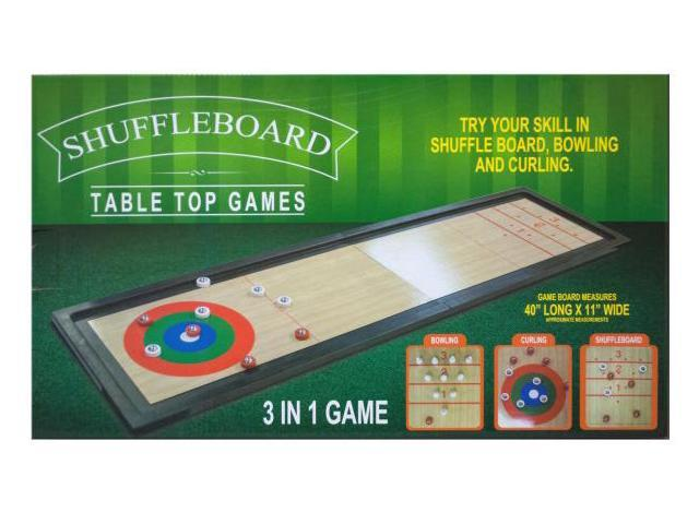 123-Wholesale: Set of 3 3 In 1 Shuffleboard Tabletop Game (Games, Tabletop Games)