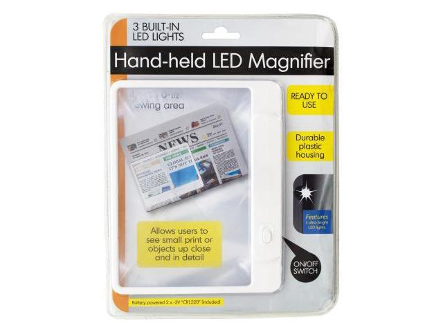 123-Wholesale: Set of 36 Hand-held LED Magnifier (School & Office Supplies, Magnifying Glasses)