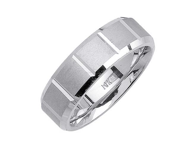 Platinum Patterns Unique Comfort Fit Men's and Women's Wedding Band Ring - 7mm