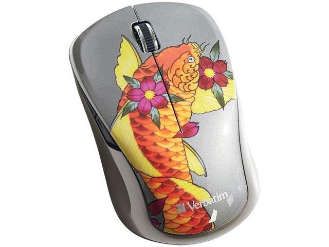 VERBATIM 98615 Wireless Multi-Trac Blue LED Mouse (Koi)