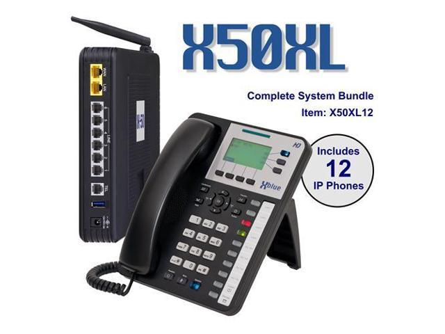 X50XL VoIP Server w/ (12) X3030 IP Phone