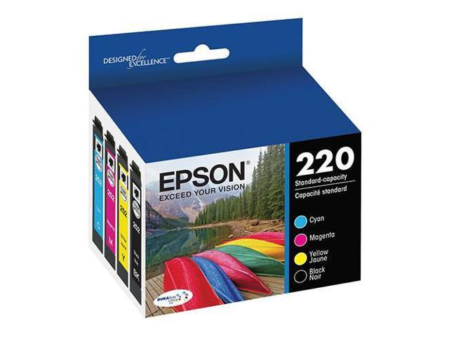 Epson T220 DURABrite Ultra Black and Color Combo Pack Ink Cartridge #T220120-BCS