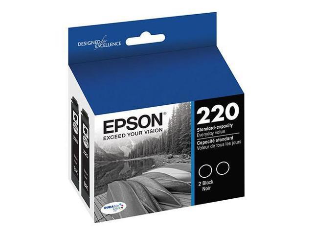 Epson T220 DURABrite Ultra Black Dual Pack Standard Capacity Ink Cartridge