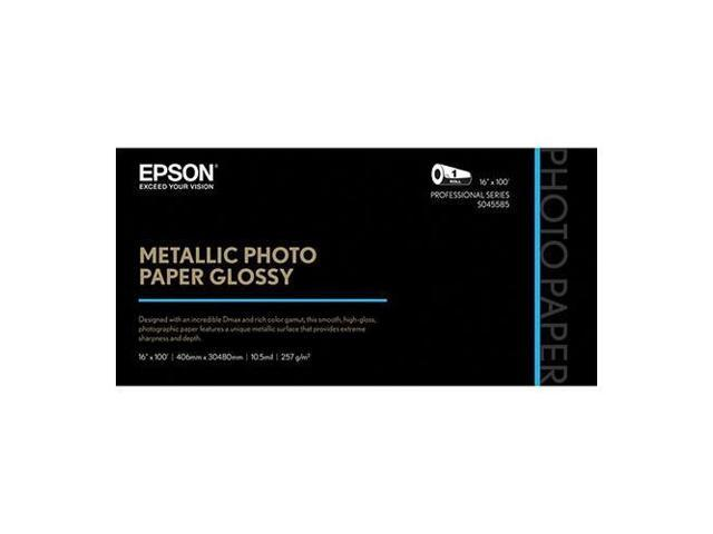 Epson S045589 Professional Media Metallic Photo Paper Glossy, White, 8 1/2x11, 25 Sheets/Pack