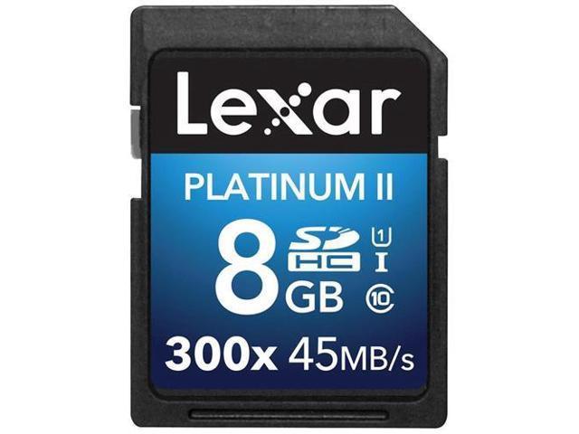 Lexar Platinum II 300x 8GB Secure Digital High-Capacity (SDHC) Flash Memory Model LSD8GBBBNL300