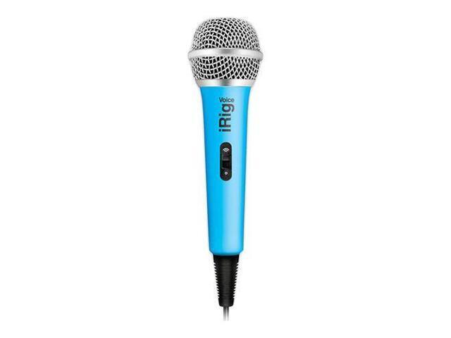 IK Multimedia iRig Voice iOS/Android Handheld Microphone, Blue