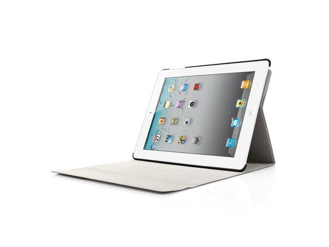 iPad 2/3/4 Keyboard Case, Apple Bluetooth Ipad Keyboard Ultra Slim Pu Leather Folio Smart Case Stand Cover + Removable W