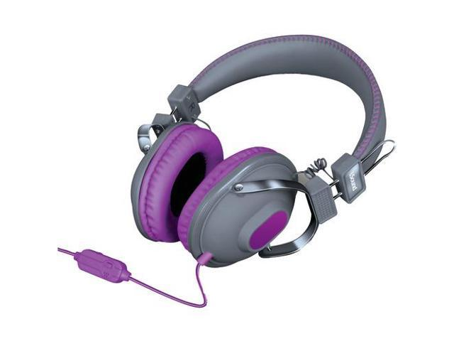 ISOUND DGHM-5524 HM260 Dynamic Stereo Headphones with Microphone (Gray/Purple)