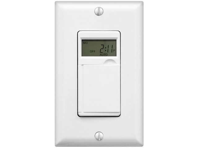Indoor Light Timer Switch: Light Timer Switch for Fan, Indoor/Outdoor light, 24 Hours/7 Days,Lighting