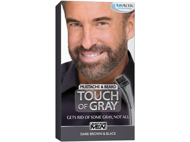 Just for Men Touch of Gray Mustache & Beard Dye Kit, Dark Brown ...