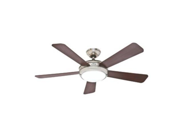 Hunter 03-282-001 Palermo 52-Inch Brushed Nickel Ceiling Fan with Five Cherry/Maple Blades