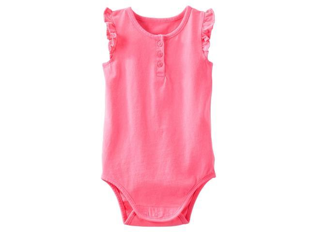 Carter's OshKosh Baby Clothing Outfit Girls Flutter-Sleeve Bodysuit Pink 24M
