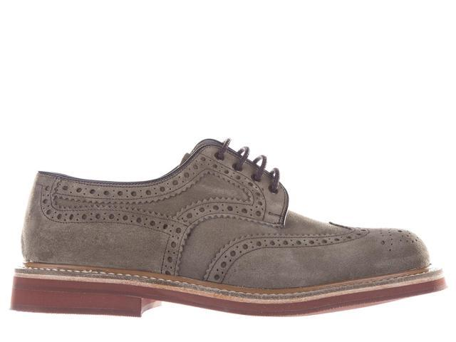 Men's Classic Suede Lace up Laced Formal Shoes orby Grey