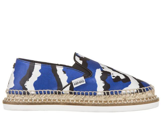 KENZO WOMEN'S ESPADRILLES SLIP ON SHOES BLUE