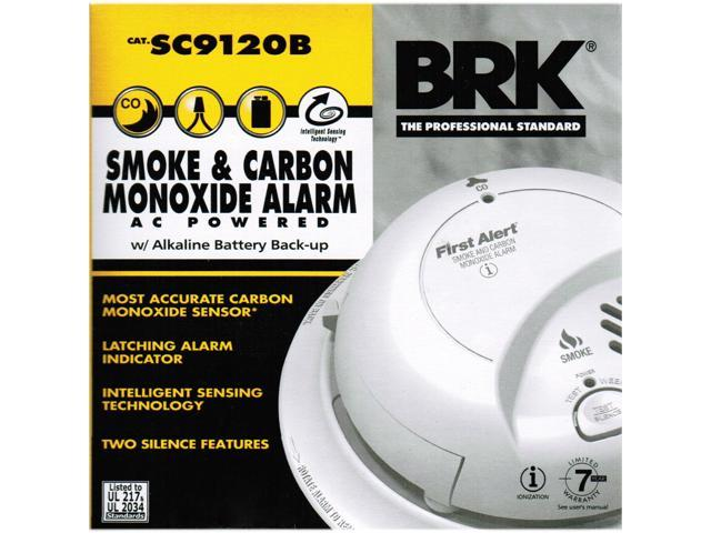 First Alert SC9120B AC/DC Smoke and CO Alarm, Hard Wired with Battery Backup