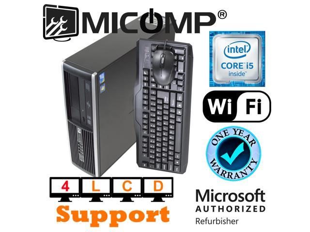 Hp Elite 8200 Computer PC I5-2400 Quad Core 3.1Ghz 8Gb 160Gb Windows 10 WiFi - Quad VGA Supports 4 LCD Display monitors