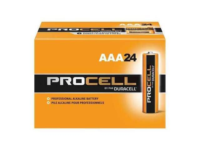 Duracell PC2400BKD Procell Alkaline Battery- AAA- 24/Box