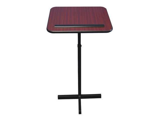 Adjustable Lectern Stand, Mahogany ,Amplivox Sound Systems, W330-MH