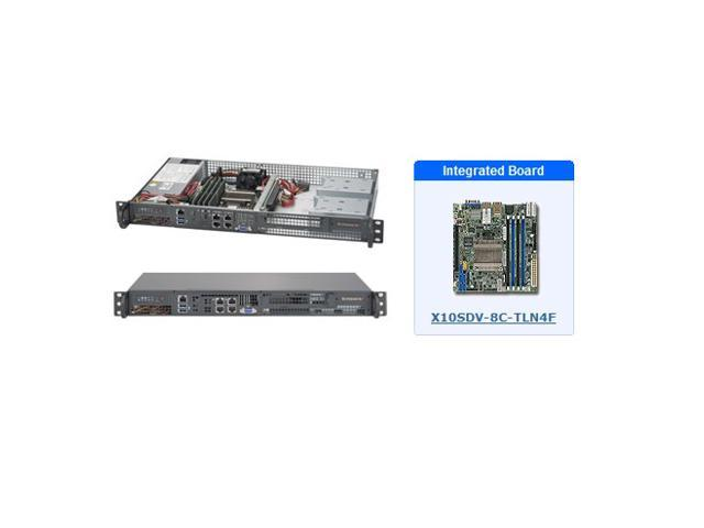 Supermicro SYS-5018D-FN4T 1U Server with X10SDV-8C-TLN4F Motherboard