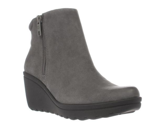 naturalizer Quineta Wedge Ankle Booties, Grey, 5 US / 35 EU